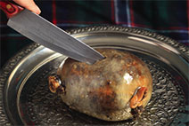 The cutting of the haggis