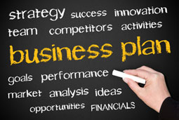 business plan and associated words