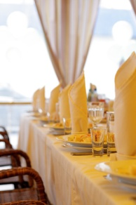 Yellow themed table