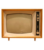 old fashioned 1950s tv