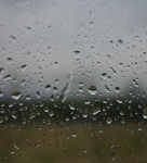 image of rain on the window