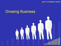 growing business template with busness men