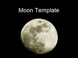 Moon PowerPoint template