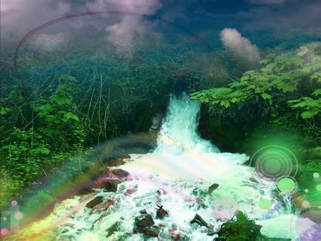 mystical river background design
