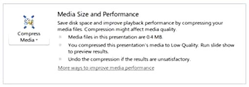 Figure 13: Optimize and Compress (Under File / Info).