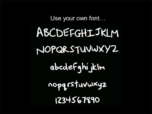 diffferent fonts on a page