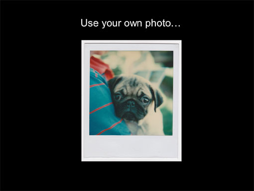 use your own photo