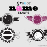 grunge stamps