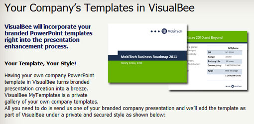 store your branded templates