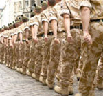 image of soliders marching
