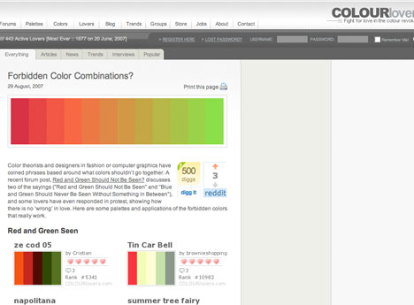 Perfect Color Combinations perfect colour combinations for your presentation