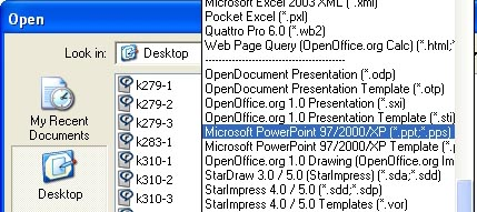Open PowerPoint files