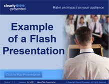 Example of a Flash presentation