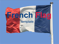 french-flag-template