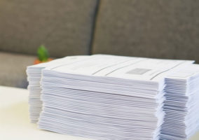 Pile of Handouts on Desk