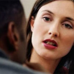 photo of woman interviewing a prospective employee