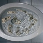 money_flushed_away