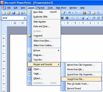 powerpoint sound from file