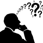salesman thinking about questions to ask