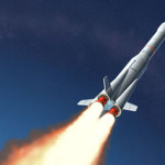 rocket launched into space