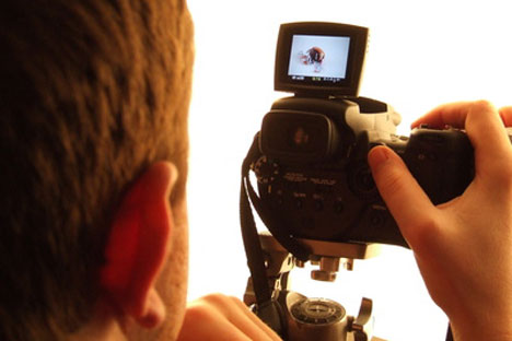 See yourself on camera before making a presentation