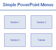 simple powerpoint menus