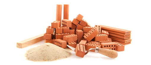 pile of bricks ready for building