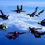 team of sky divers