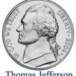 image of coin with Thomas Jefferson
