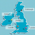 map of the uks capitial cities
