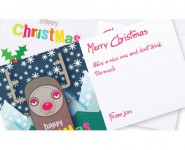 Christmas Snow Lights Card