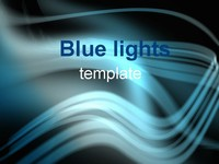 Blue Lights PowerPoint Template