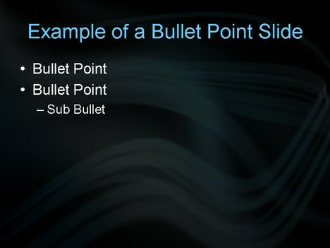 Blue Lights PowerPoint Template inside page