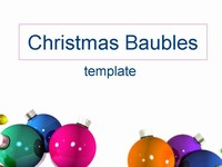 Christmas Baubles Template