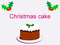 Christmas Cake Template thumbnail