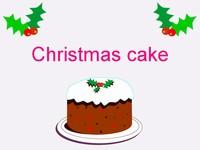 Christmas Cake Template
