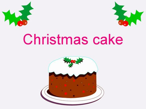 Free Download Christmas Cake Images : Christmas Cake Template