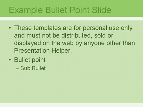 Strips Green 1 PowerPoint Template inside page