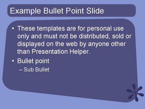 1950s style PowerPoint Template – Purple inside page