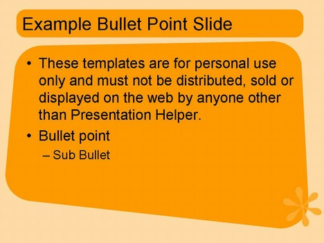 1950s style PowerPoint Template – Orange inside page