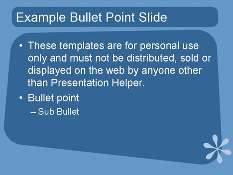 1950s style PowerPoint Template – Blue inside page