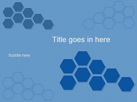 hexagons blue, Blue Presentation Template, Presentation templates
