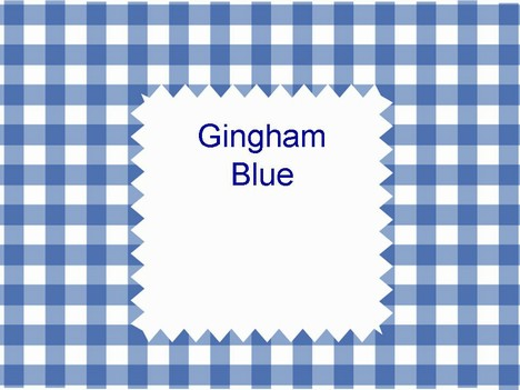 Gingham Blue Template