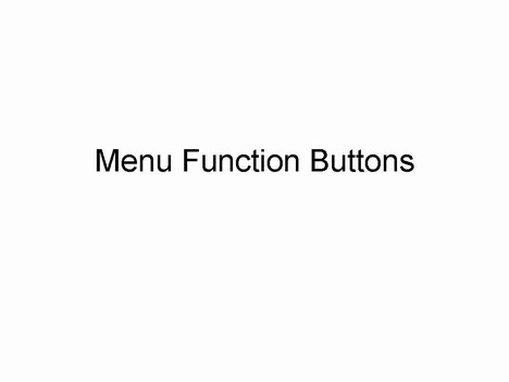 Function Buttons Template