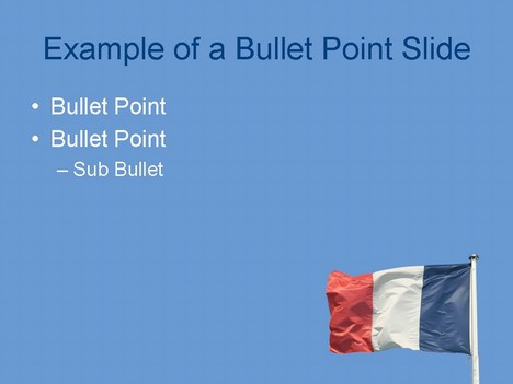 French Flag PowerPoint Template inside page