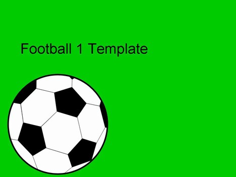 Simple but effective football vector powerpoint template a football