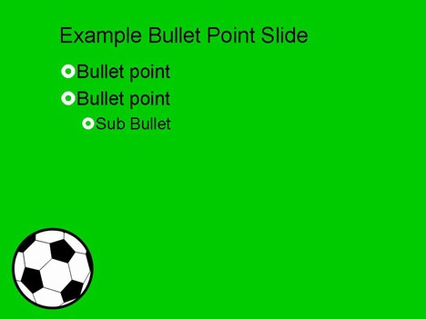 Football Vector Ball Powerpoint Template inside page