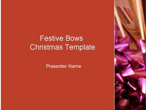 Festive Red Bows Template