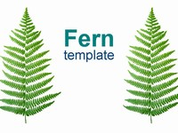 Fern Nature Template