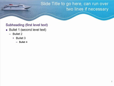 Fast Ferry Template inside page